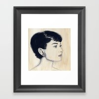 Audrey (watercolor) Framed Art Print