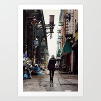 Walking Through Bushwick, Brooklyn Art Print
