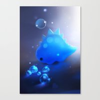 crystal dino Canvas Print