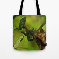 Green Snake in the Trees Tote Bag