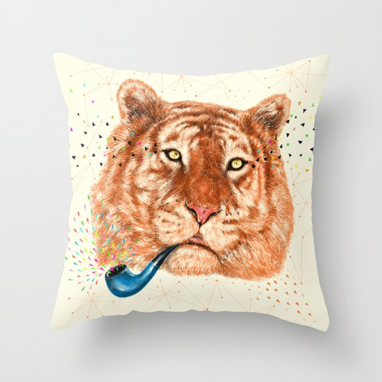 TIGER CRY I Throw Pillow