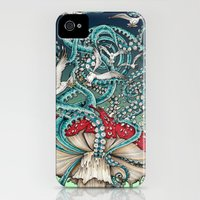 iPhone Cases featuring Flying the Agaric by TAOJB