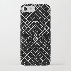 PS Grid 45 Black iPhone 7 Slim Case