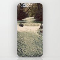 Rocky River Waterfall Englischer Garten Germany Color Photo Isar River iPhone & iPod Skin