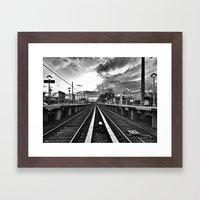 Returning Commute Framed Art Print