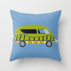 Death Race 2000 Alligator Van Throw Pillow
