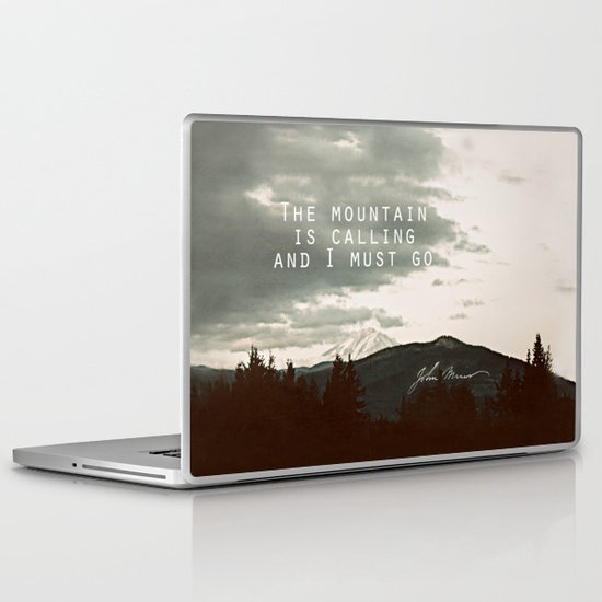 The Mountain is Calling Laptop & iPad Skin