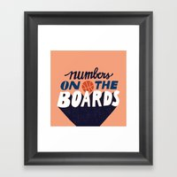 Numbers on the Boards Framed Art Print