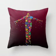 Oblation Flowers Throw Pillow