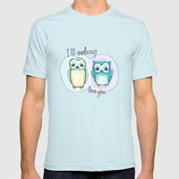 owls Mens Fitted Tee Light Blue SMALL