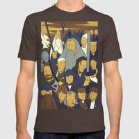 The Fellowship Of The Ri… Mens Fitted Tee Brown SMALL