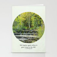 Fall Leaves + F Scott Fi… Stationery Cards