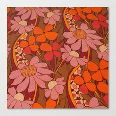 Crazy pinks 50s Flower  Canvas Print