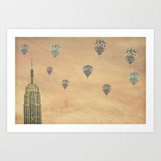 Balloons over the Empire Art Print