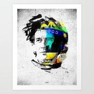 Ayrton Senna Do Brasil -… Art Print