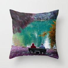 Couple in Fantasy Throw Pillow