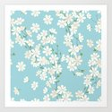 Turquoise Bloom Art Print