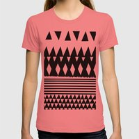 Retro Womens Fitted Tee Pomegranate SMALL