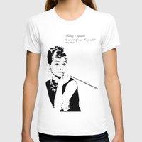 audrey hepburn T-shirts featuring AUDREY HEPBURN by MATT WARING