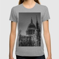 St Pauls, London Womens Fitted Tee Athletic Grey SMALL