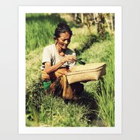 Rice Woman Art Print