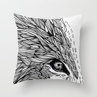 wolf like me Throw Pillow