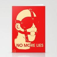 No More Lies Stationery Cards