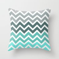 Tiffany Fade Chevron Pat… Throw Pillow