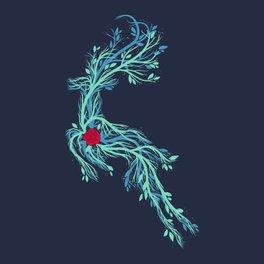Framed Art Print - Spirit Vines (Dark Blue) - Tobe Fonseca