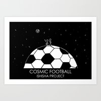 COSMIC FOOTBALL by ISHISHA PROJECT Art Print
