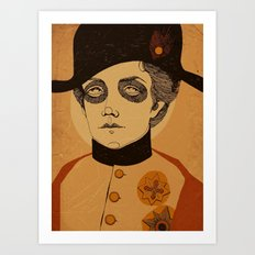 An Officer and a Lady Art Print