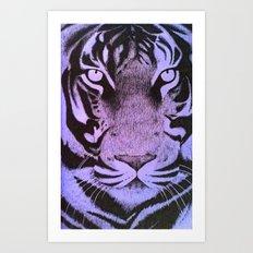 Be a Tiger (Purple) Art Print