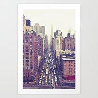Flying Over First... (co… Art Print