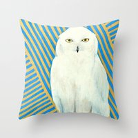 Chester The Owl Throw Pillow