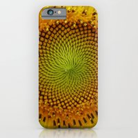 iPhone & iPod Case featuring Journey to the Center of the Sunflower by Chaos Gate Designs