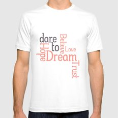 Dare to Love -- Alternate Version Mens Fitted Tee White SMALL