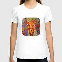 Lion's Visions Womens Fitted Tee White SMALL