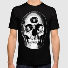 Third Eye Bones (Black and White Edition) Black SMALL Mens Fitted Tee