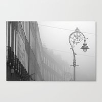 Dublin Street Lamp In Th… Canvas Print