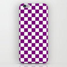 Checker (Purple/White) iPhone & iPod Skin