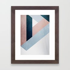 Complex Triangle Framed Art Print