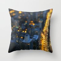 City Nights #1 Throw Pillow