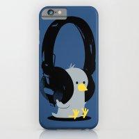 Le poussin mélomane (blue) iPhone 6 Slim Case