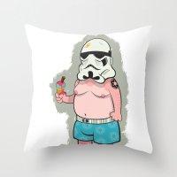 Trooper White Throw Pillow