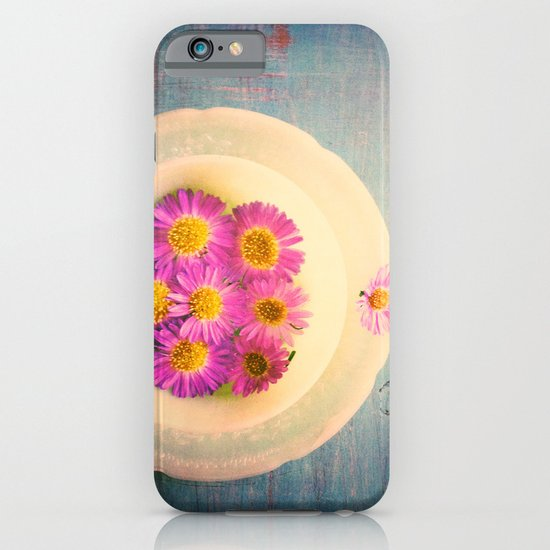 Spring Flowers on Vintage Table iPhone & iPod Case