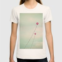 Whimsical Balloons Womens Fitted Tee Natural SMALL