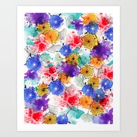 Printed Silk Exotic Gard… Art Print