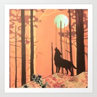 Wolf_2 Art Print
