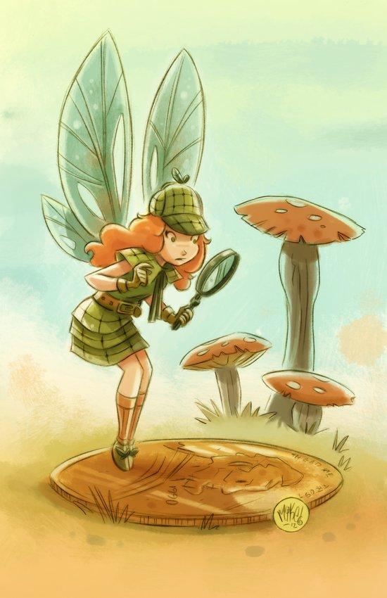 Goblins Drool, Fairies Rule! - Penny Clue Art Print