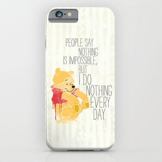 I do nothing every day iPhone & iPod Case